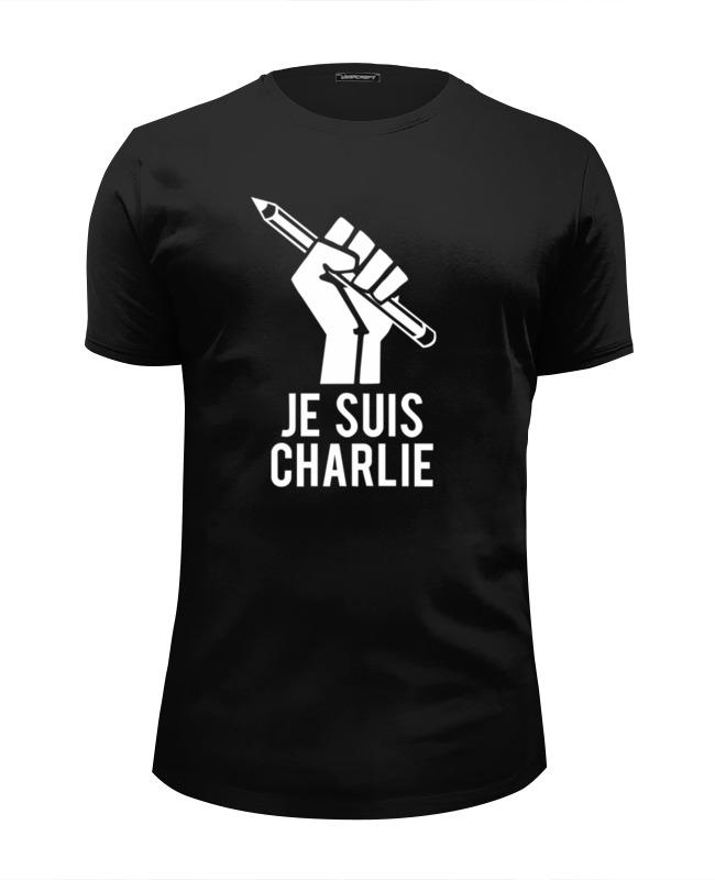 Футболка Wearcraft Premium Slim Fit Printio Je suis charlie, я шарли футболка wearcraft premium slim fit printio charlie hebdo