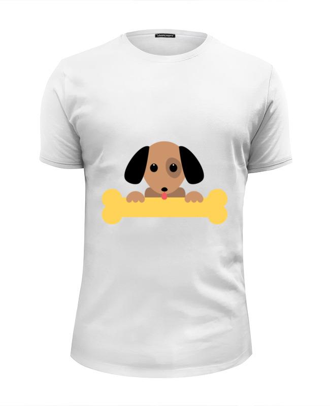Футболка Wearcraft Premium Slim Fit Printio Собачка с косточкой фантазер плюшевое сердце собачка с косточкой