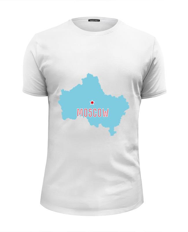 Футболка Wearcraft Premium Slim Fit Printio Московская область. москва лонгслив printio московская область москва