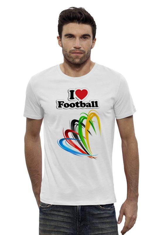 Футболка Wearcraft Premium Slim Fit Printio Я люблю футбол футболка wearcraft premium slim fit printio я люблю мир