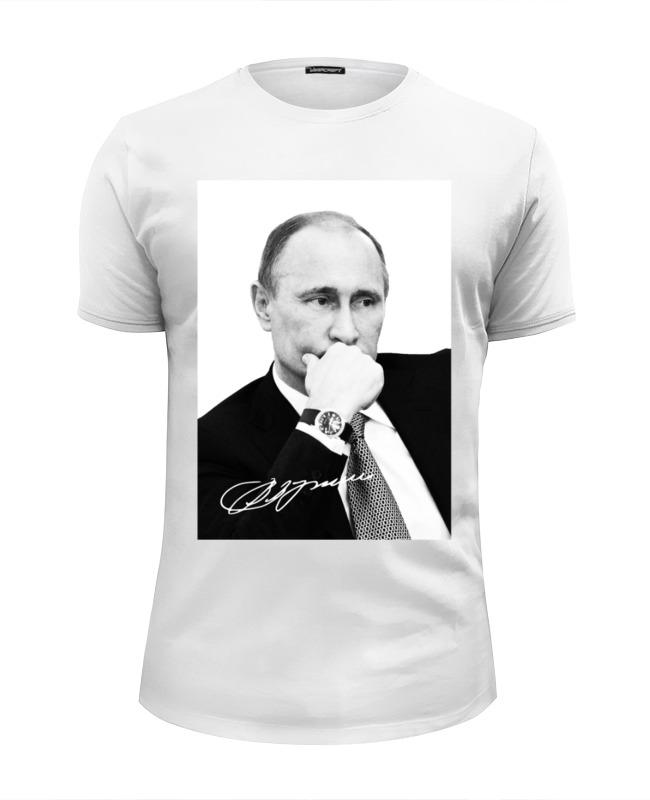 Футболка Wearcraft Premium Slim Fit Printio Владимир путин by hearts of russia футболка wearcraft premium slim fit printio kingdom hearts