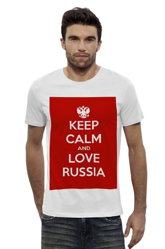 Футболка Wearcraft Premium Slim Fit Printio Keep calm and love russia футболка wearcraft premium slim fit printio keep calm