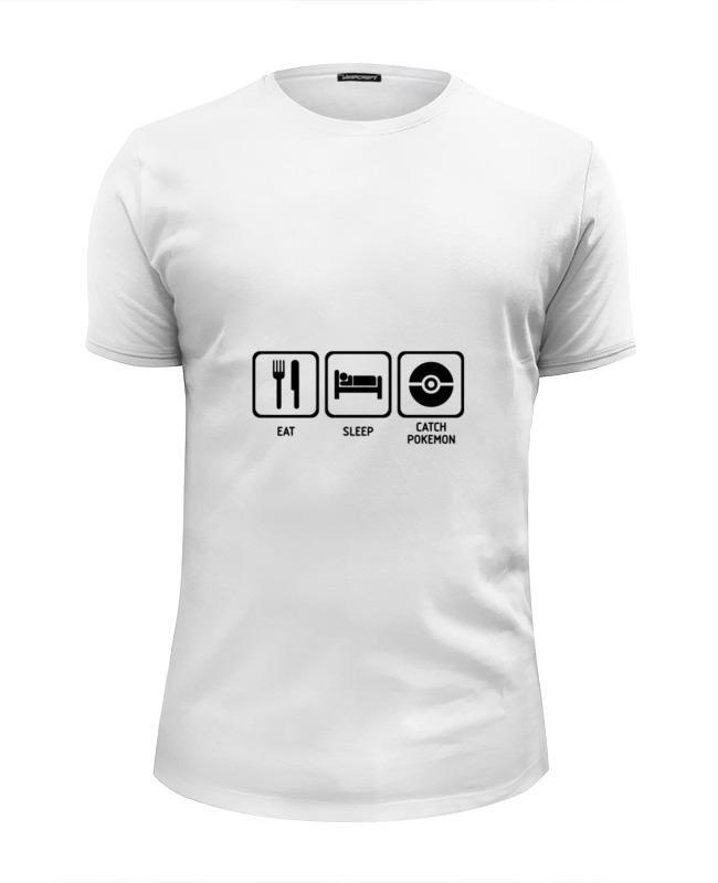 Футболка Wearcraft Premium Slim Fit Printio Ловлю покемонов футболка wearcraft premium printio я здесь только из за покемонов