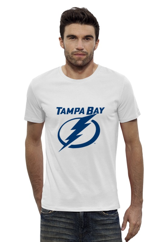Футболка Wearcraft Premium Slim Fit Printio Tampa bay lightning 2015 nhl stanley cup final game 4 puck in acrylic cube tampa bay lightning vs chicago blackhawks