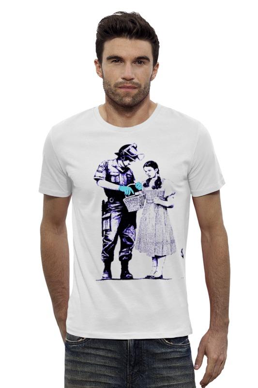 Футболка Wearcraft Premium Slim Fit Printio Dorothy police search футболка для беременных printio dorothy police search