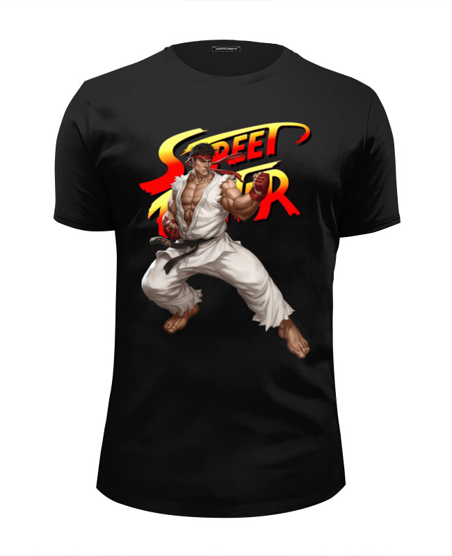 Футболка Wearcraft Premium Slim Fit Printio Street fighter ryu толстовка wearcraft premium унисекс printio ryu street fighter