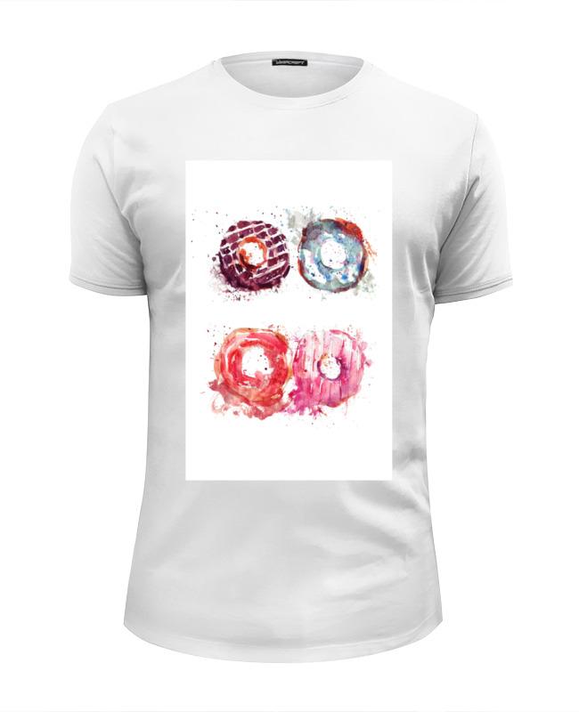 Футболка Wearcraft Premium Slim Fit Printio Пончики! donuts сумка printio пончики donuts