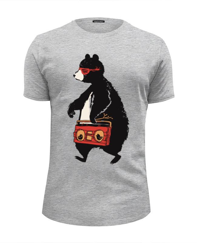 Футболка Wearcraft Premium Slim Fit Printio Медведь с магнитофоном футболка wearcraft premium slim fit printio медведь с магнитофоном