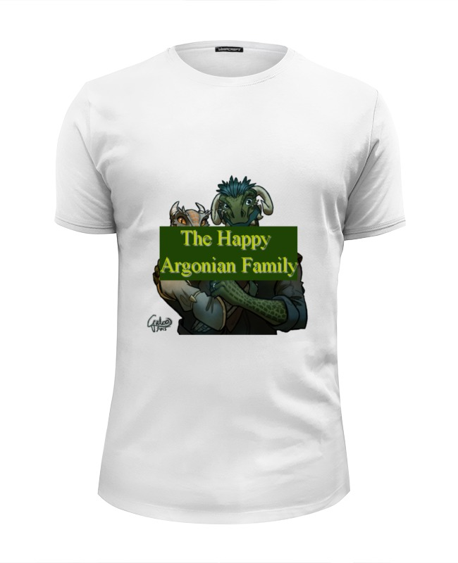 Футболка Wearcraft Premium Slim Fit Printio The happy argonian family