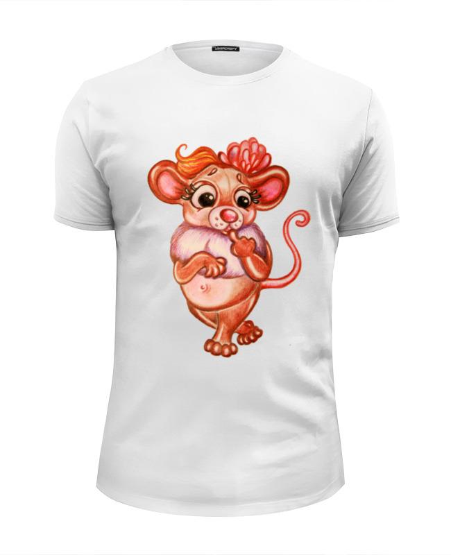 Футболка Wearcraft Premium Slim Fit Printio Задумчивая мышка майка классическая printio задумчивая мышка