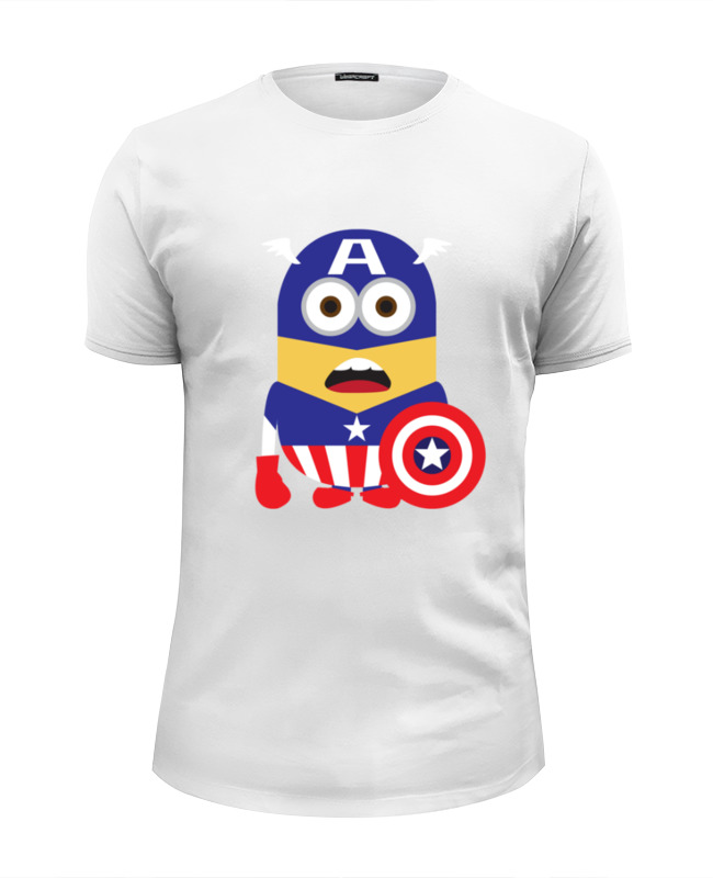 Футболка Wearcraft Premium Slim Fit Printio Captain america minions футболка wearcraft premium slim fit printio captain america the winter soldier