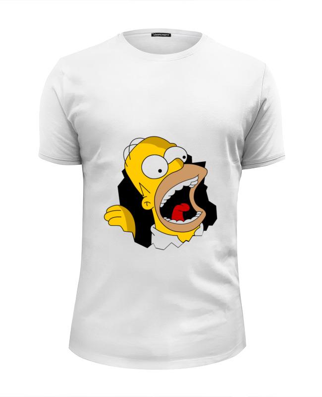 Футболка Wearcraft Premium Slim Fit Printio Homer simpson худи print bar homer logan