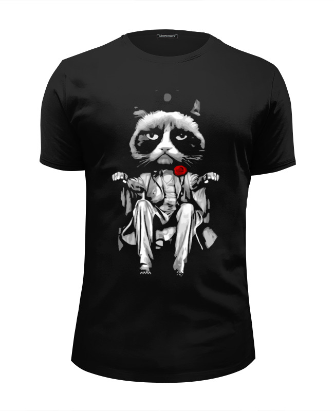 Футболка Wearcraft Premium Slim Fit Printio Сердитый котик (grumpy cat) футболка wearcraft premium printio рыжий котик don t panic be cool it s idea shop