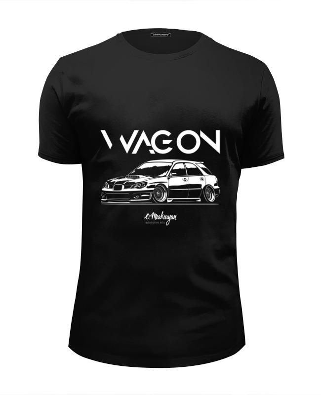 Футболка Wearcraft Premium Slim Fit Printio Subaru impreza wagon