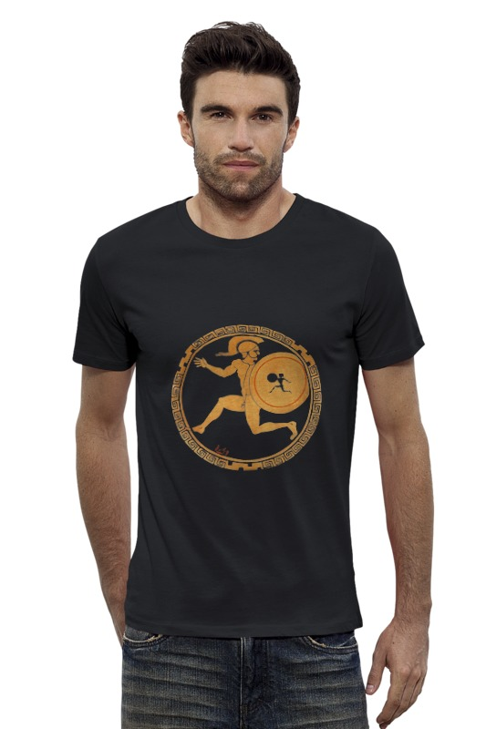 Футболка Wearcraft Premium Slim Fit Printio Ancient greek man with shield футболка wearcraft premium slim fit printio dota 2 ancient apparation with text