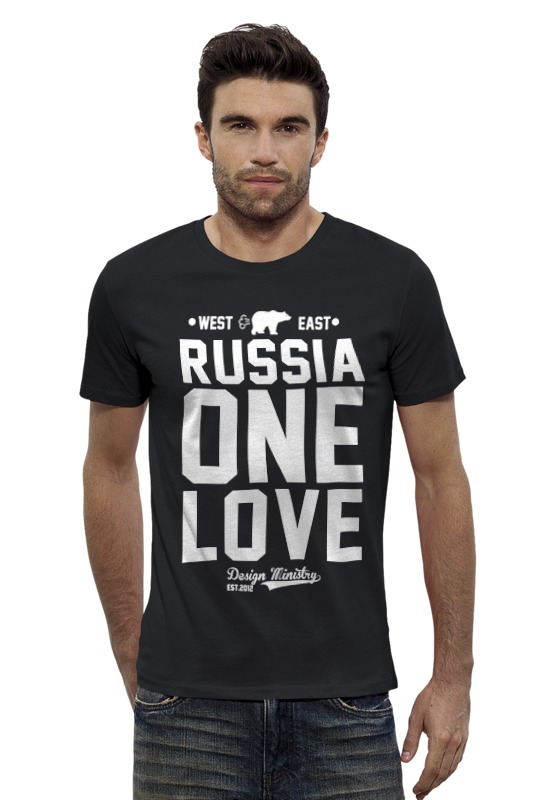 Футболка Wearcraft Premium Slim Fit Printio Russia one love by design ministry футболка wearcraft premium slim fit printio lada седан by design ministry