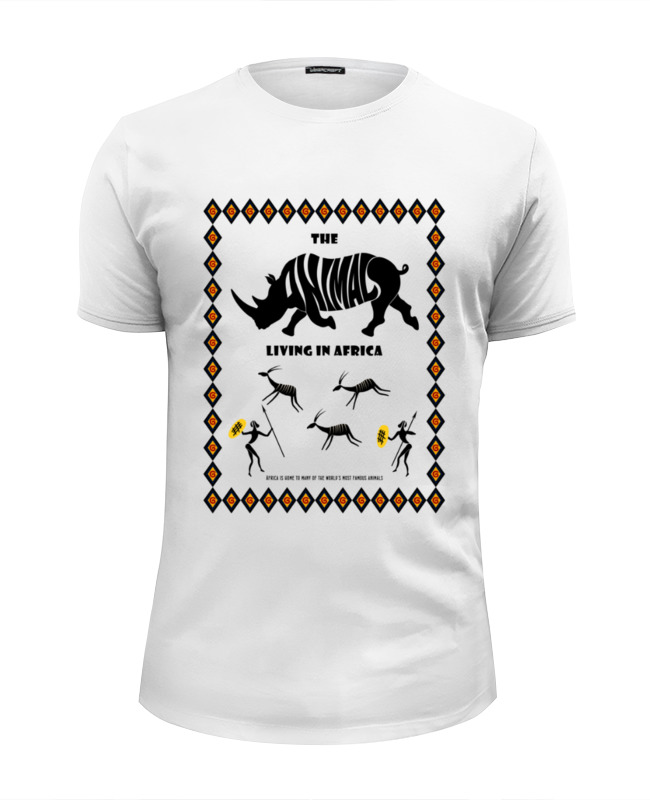 Футболка Wearcraft Premium Slim Fit Printio The animals living in africa толстовка wearcraft premium унисекс printio the animals living in africa