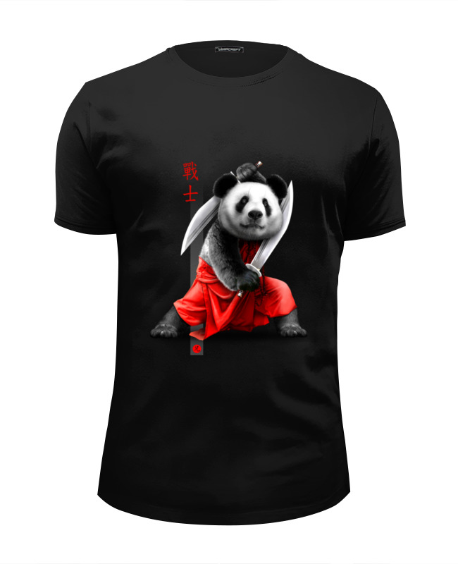 Футболка Wearcraft Premium Slim Fit Printio Панда с мечами футболка классическая printio панда с мечами
