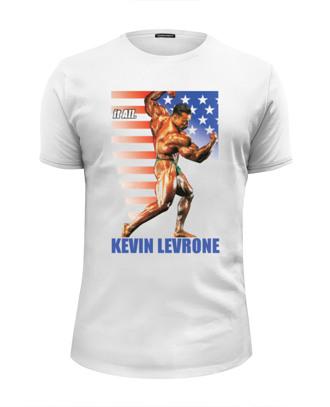 Футболка Wearcraft Premium Slim Fit Printio Kevin levrone / кевин леврон кевин литтл kevin lyttle kevin lyttle ecd