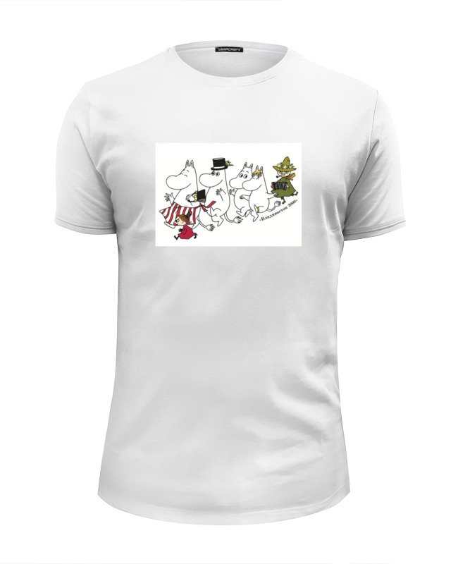 Футболка Wearcraft Premium Slim Fit Printio Муми-тролль и компания футболка wearcraft premium slim fit printio democracy by design ministry