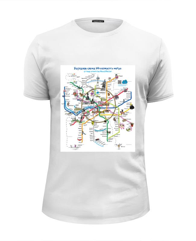 Футболка Wearcraft Premium Slim Fit Printio Metro map футболка для беременных printio metro last light