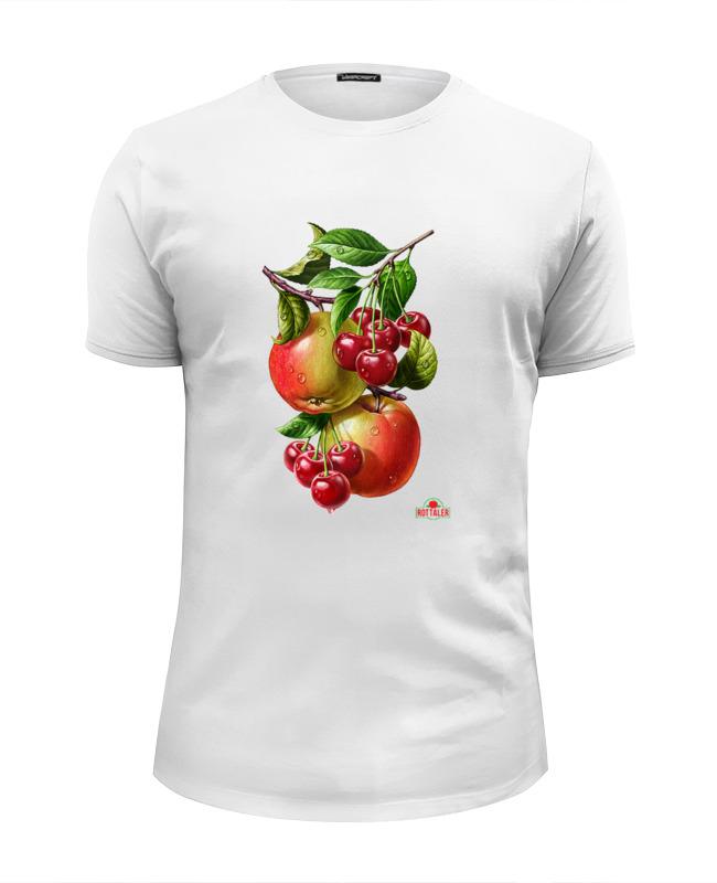 Футболка Wearcraft Premium Slim Fit Printio Яблочки, вишенки лонгслив printio яблочки вишенки