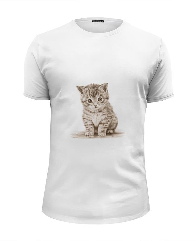 Футболка Wearcraft Premium Slim Fit Printio Милый котёнок футболка wearcraft premium slim fit printio спящий котёнок