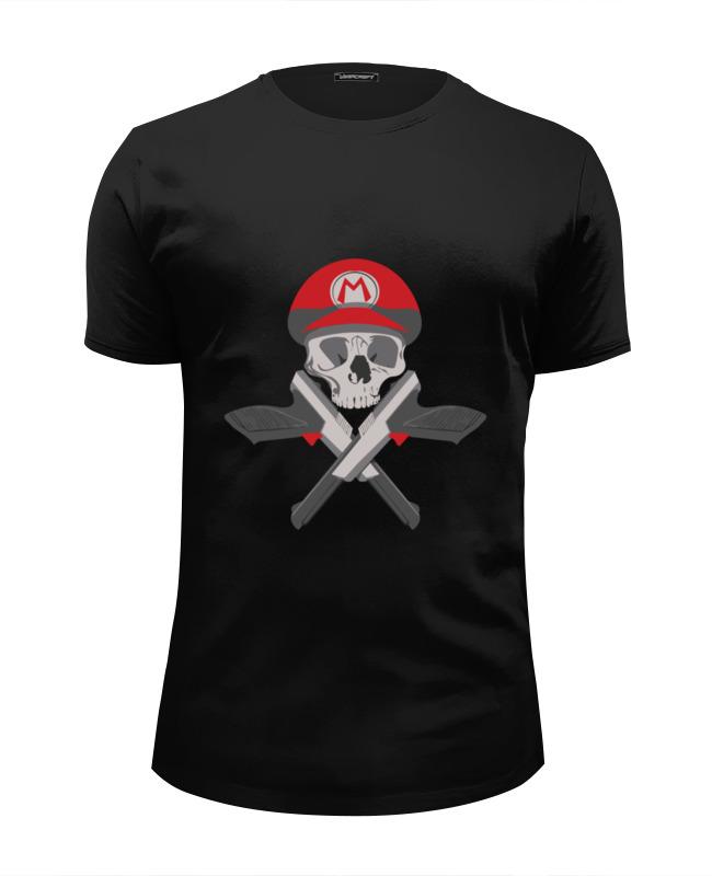 Футболка Wearcraft Premium Slim Fit Printio Череп марио футболка wearcraft premium slim fit printio череп