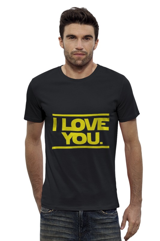 Футболка Wearcraft Premium Slim Fit Printio I love you star wars