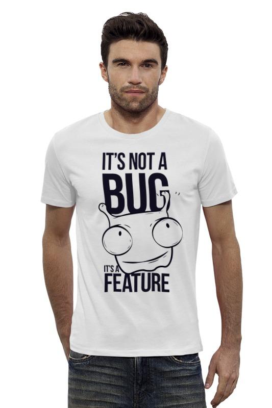 Футболка Wearcraft Premium Slim Fit Printio It's not a bug like bug juice on a burger