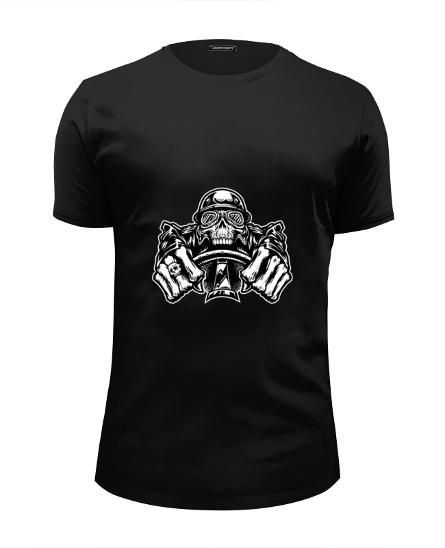 Футболка Wearcraft Premium Slim Fit Printio Скелетон футболка wearcraft premium slim fit printio скелетон на мотоцикле