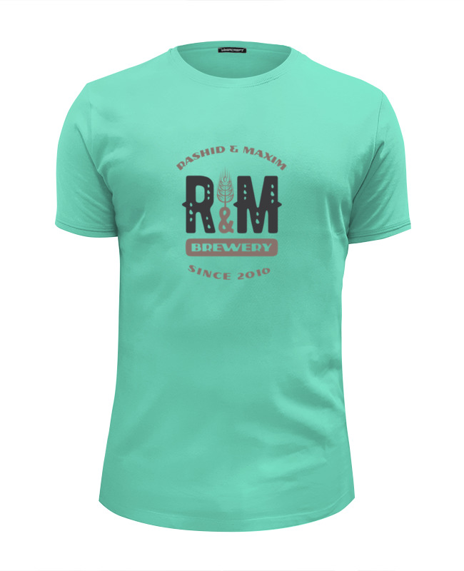 Футболка Wearcraft Premium Slim Fit Printio R&m t-shirt trendy skull pattern round neck men s t shirt white size m