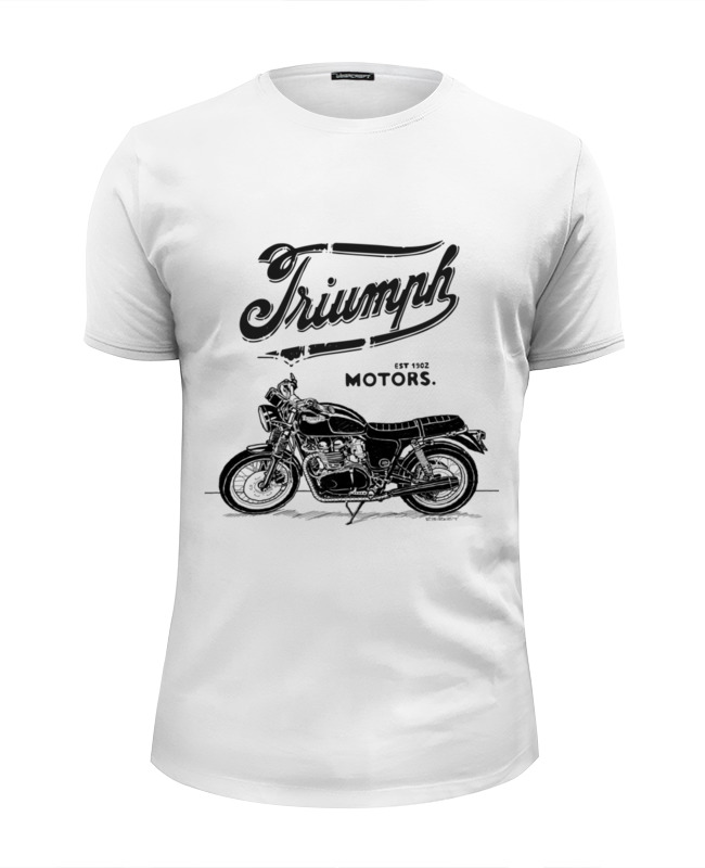 цена на Футболка Wearcraft Premium Slim Fit Printio Triumph motorcycles