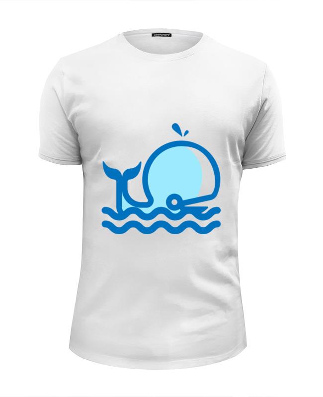Футболка Wearcraft Premium Slim Fit Printio Кит на море футболка wearcraft premium slim fit printio хочу на море