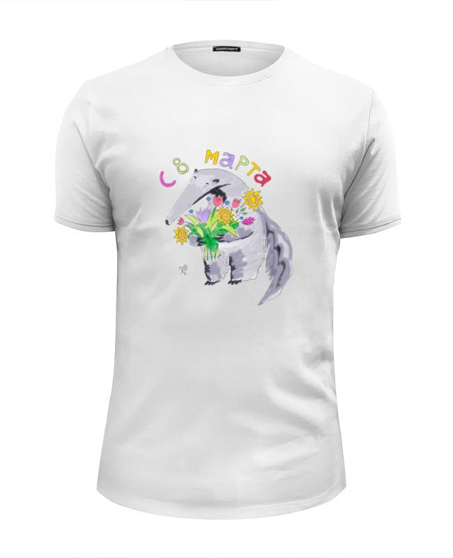 Футболка Wearcraft Premium Slim Fit Printio Праздничный муравьед футболка wearcraft premium slim fit printio муравьед с цветами