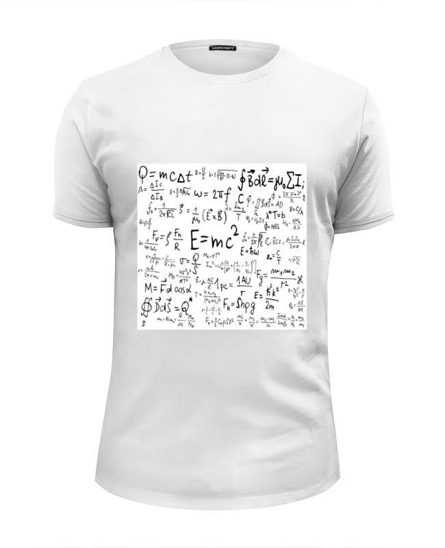 Футболка Wearcraft Premium Slim Fit Printio Формулы по физике сумка printio формулы по физике
