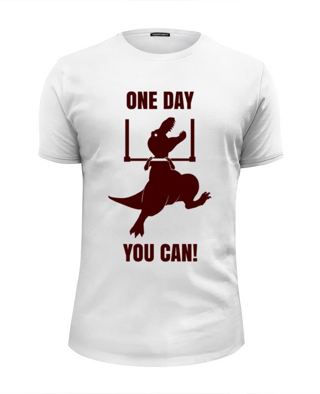Футболка Wearcraft Premium Slim Fit Printio Однажды получится! футболка классическая printio тираннозавр