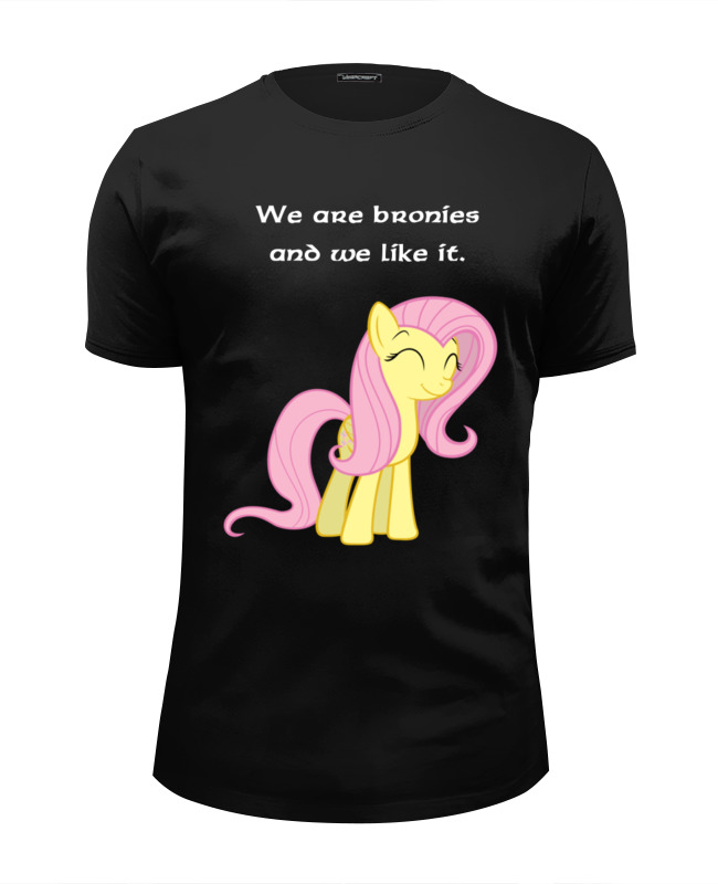 Футболка Wearcraft Premium Slim Fit Printio We are bronies and we like it.