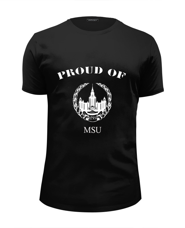 Футболка Wearcraft Premium Slim Fit Printio Proud of msu детские штаны proud of tony mei