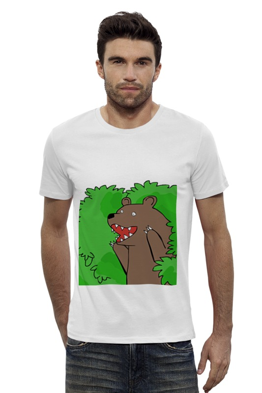 Футболка Wearcraft Premium Slim Fit Printio Медведь из кустов андрей кустов