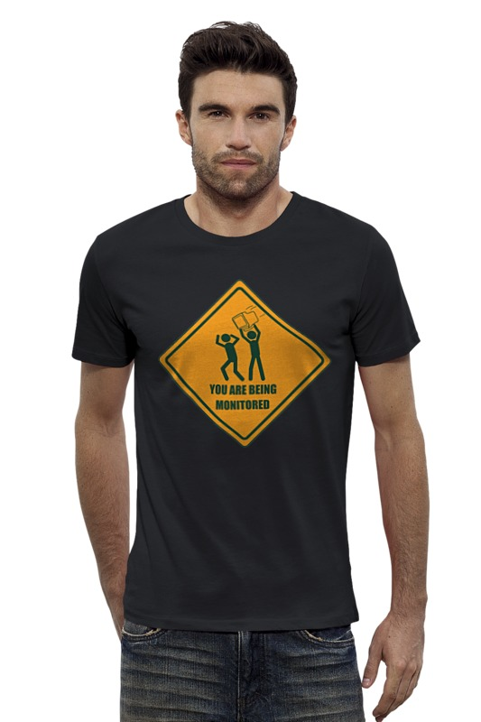 Футболка Wearcraft Premium Slim Fit Printio You are being monitored футболка wearcraft premium slim fit printio you are my person