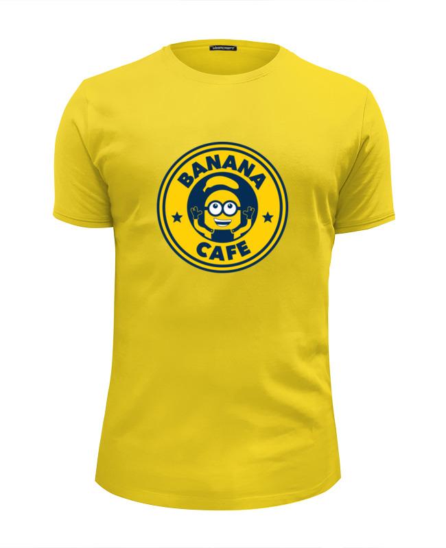 Футболка Wearcraft Premium Slim Fit Printio Banana cafe (minion) футболка wearcraft premium slim fit printio banana миньоны