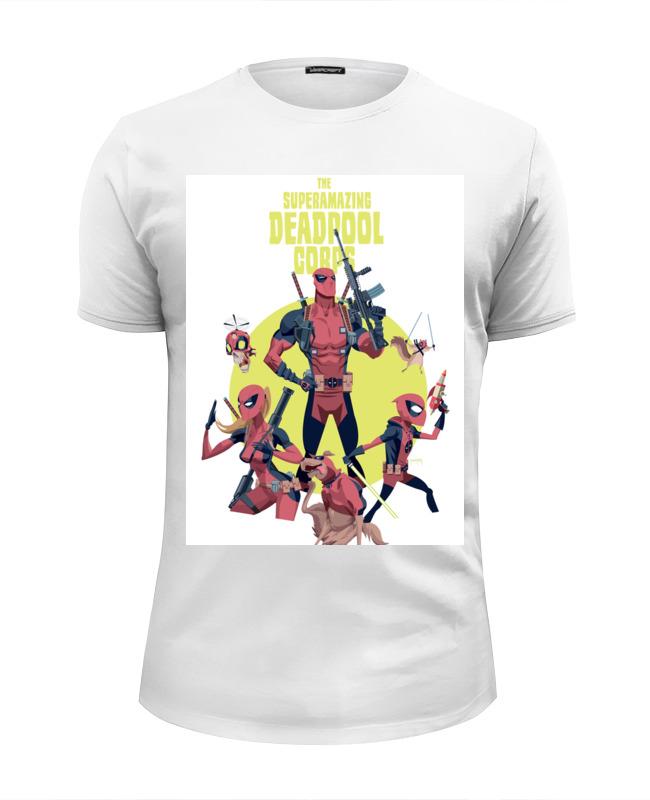 Футболка Wearcraft Premium Slim Fit Printio Deadpool family family affair fit