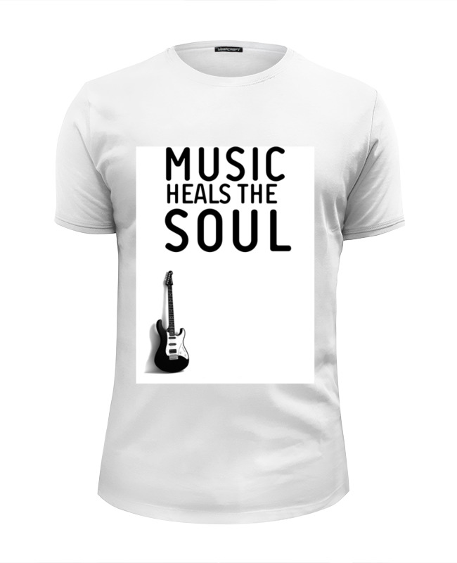 Футболка Wearcraft Premium Slim Fit Printio Music heals the soul 16 soul music
