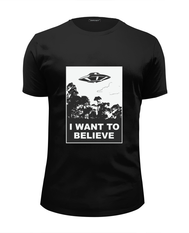 Футболка Wearcraft Premium Slim Fit Printio i want to believe (x-files) why should i bother to keep fit