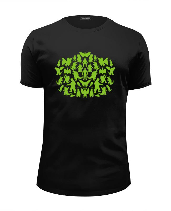 Футболка Wearcraft Premium Slim Fit Printio Шелдон купер - зеленые монстры детская футболка классическая унисекс printio шелдон купер зеленые монстры