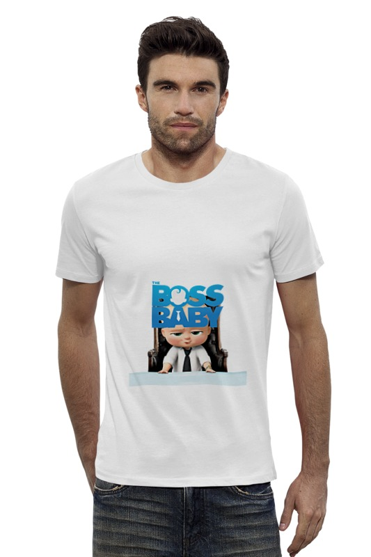 Футболка Wearcraft Premium Slim Fit Printio Босс-молокосос / the boss baby футболка wearcraft premium slim fit printio sans boss