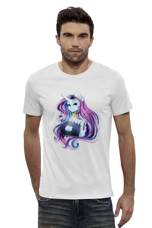 Футболка Wearcraft Premium Slim Fit Printio My little pony: рарити-девушка футболка wearcraft premium slim fit printio my little pony