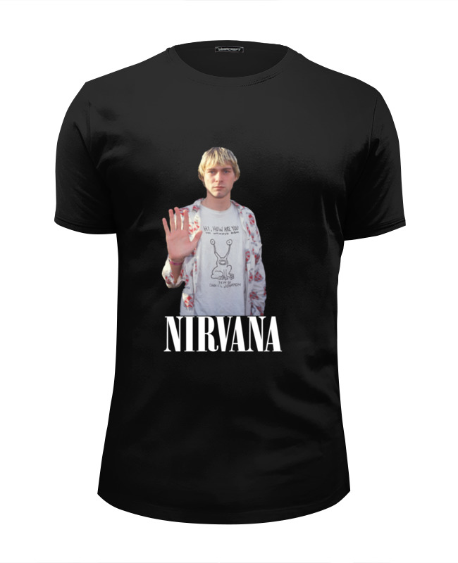 Футболка Wearcraft Premium Slim Fit Printio Nirvana kurt cobain hello t-shirt футболка wearcraft premium slim fit printio nirvana incesticide album t shirt