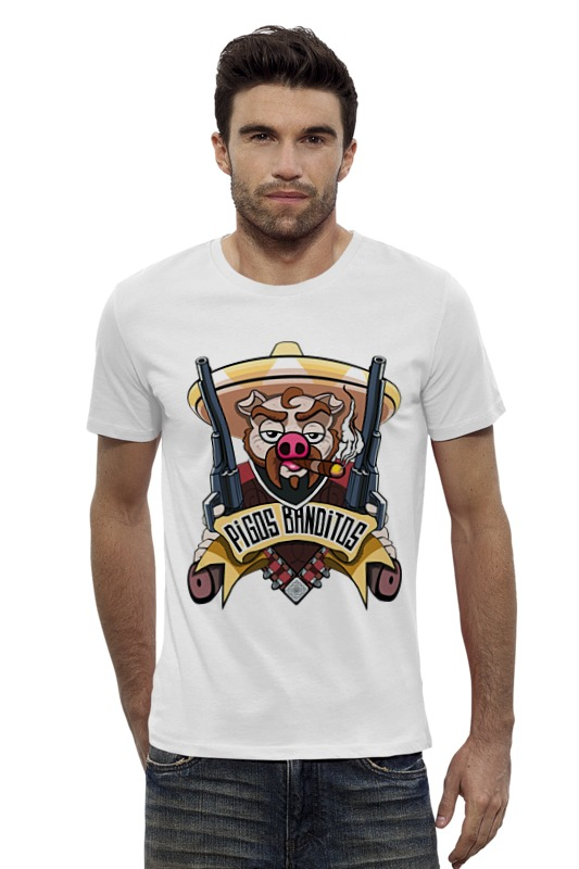 Футболка Wearcraft Premium Slim Fit Printio Pigos banditos футболка wearcraft premium printio оранжевое солнце